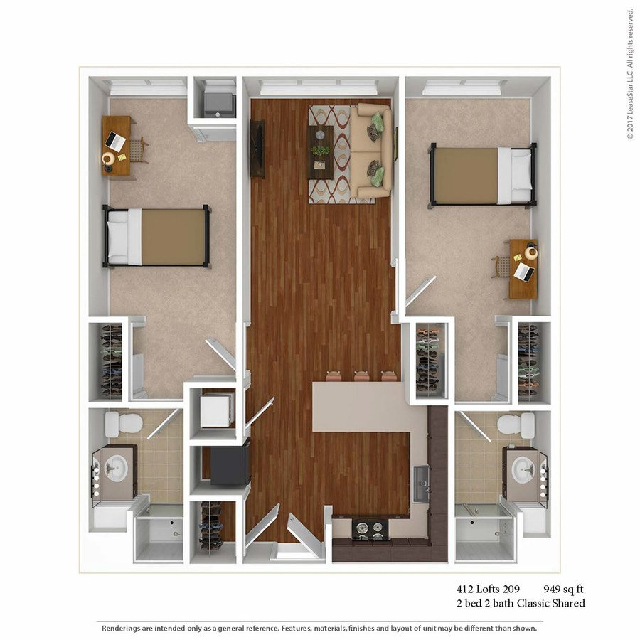 2 Bedrooms 2 Bathrooms Apartment for rent at 412 Lofts in Minneapolis, MN