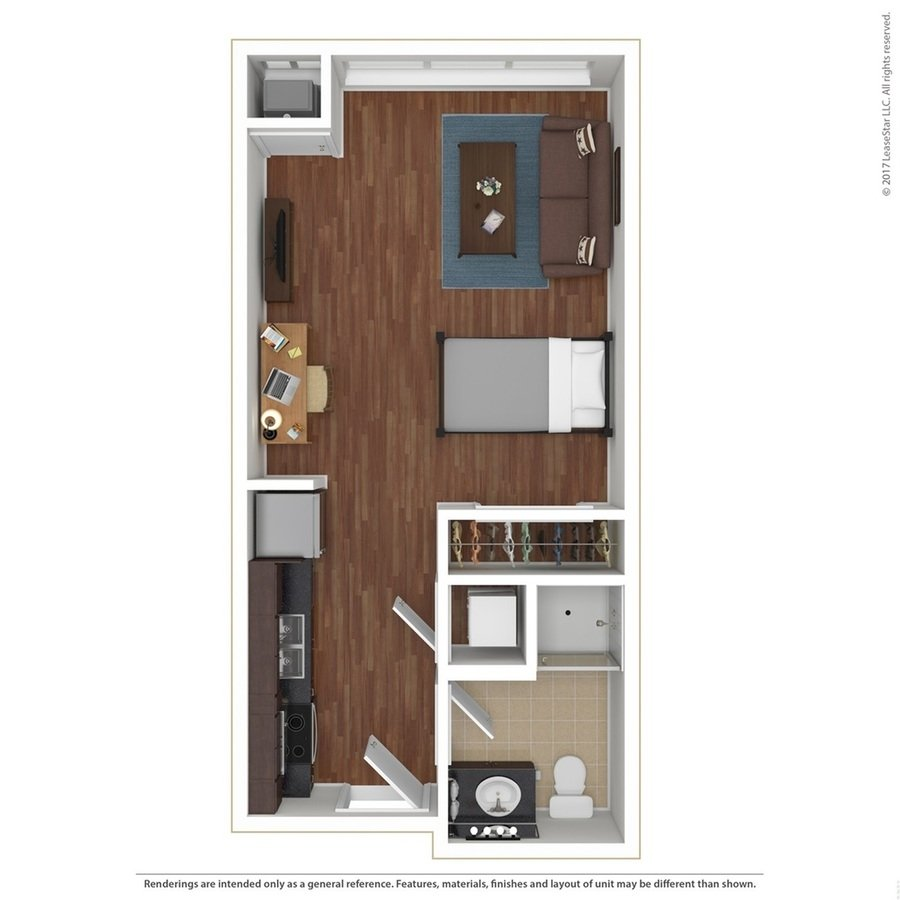 Studio 1 Bathroom Apartment for rent at Sydney Hall and Dinkydome in Minneapolis, MN