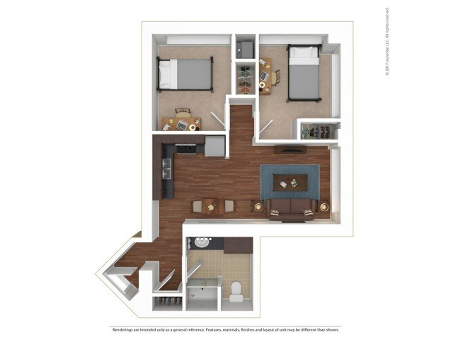 2 Bedrooms 1 Bathroom Apartment for rent at Sydney Hall and Dinkydome in Minneapolis, MN