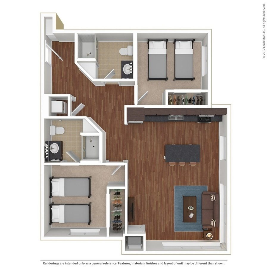 2 Bedrooms 2 Bathrooms Apartment for rent at Sydney Hall and Dinkydome in Minneapolis, MN