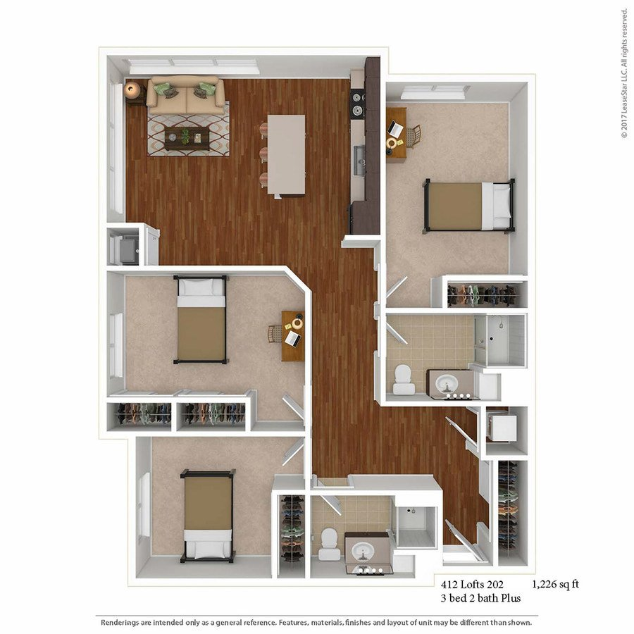 3 Bedrooms 2 Bathrooms Apartment for rent at 412 Lofts in Minneapolis, MN