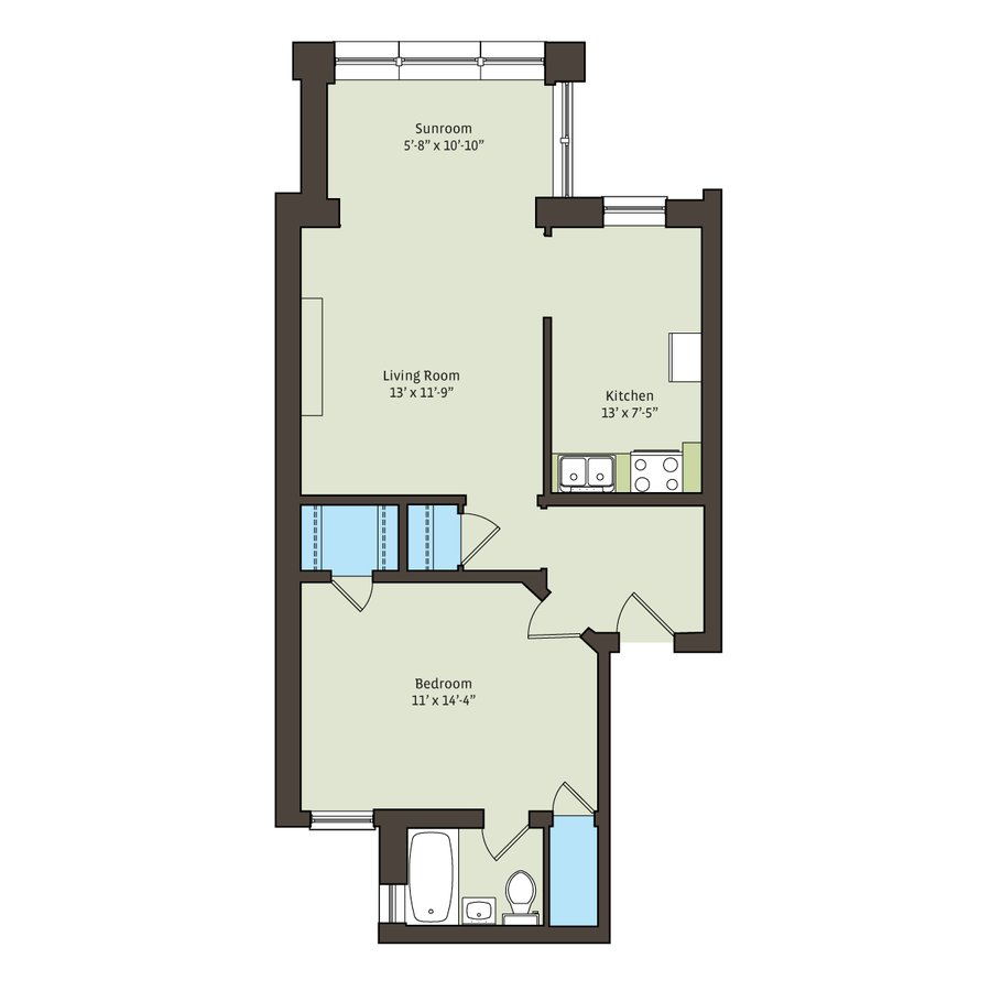 1 Bedroom 1 Bathroom Apartment for rent at 5336-5338 S. Hyde Park Boulevard in Chicago, IL