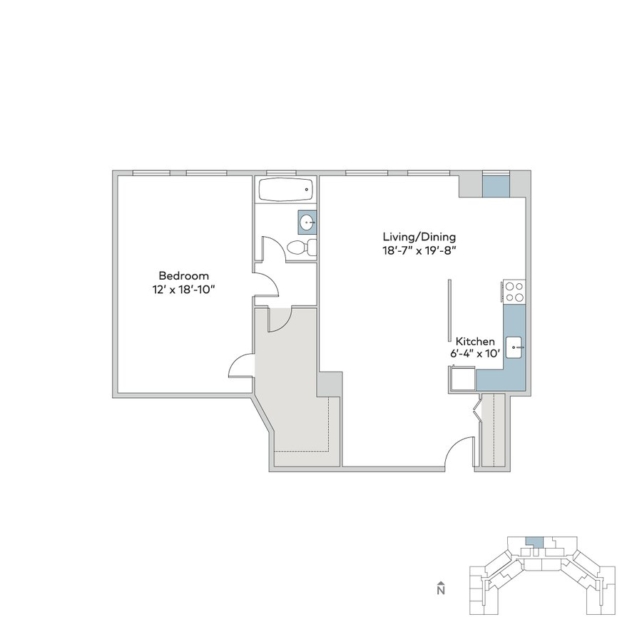 1 Bedroom 1 Bathroom Apartment for rent at Windermere House in Chicago, IL