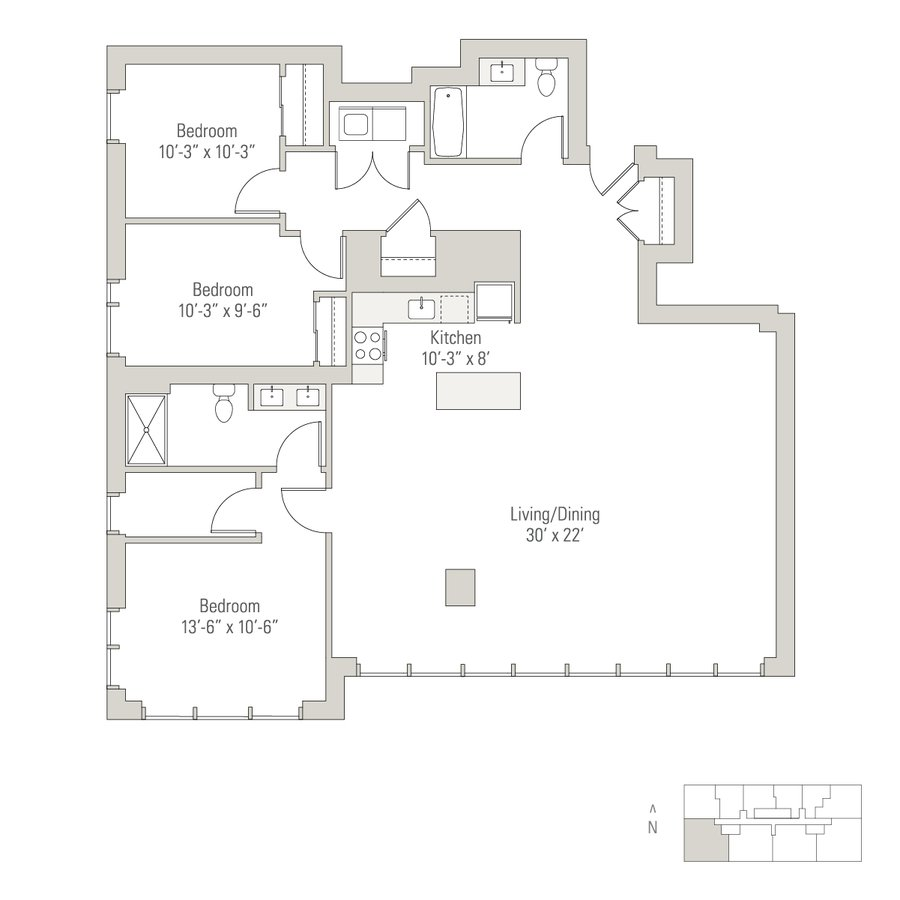1 Bedroom 1 Bathroom Apartment for rent at Solstice on the Park in Chicago, IL