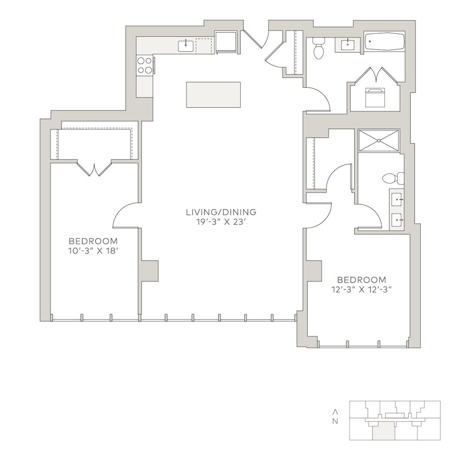 2 Bedrooms 2 Bathrooms Apartment for rent at Solstice on the Park in Chicago, IL