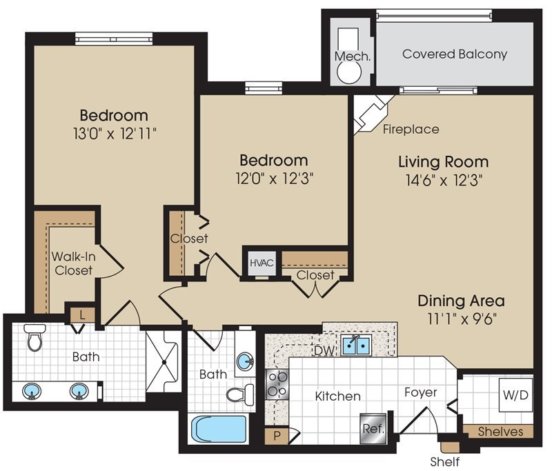 2 Bedrooms 2 Bathrooms Apartment for rent at The Marque Apartments in Gainesville, VA