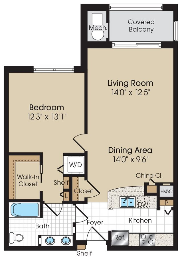 1 Bedroom 1 Bathroom Apartment for rent at The Marque Apartments in Gainesville, VA