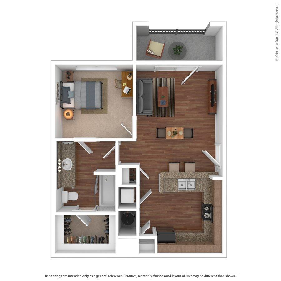 1 Bedroom 1 Bathroom Apartment for rent at 18 Seventy Nine in Huntsville, TX