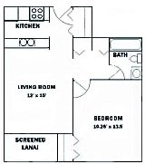 1 Bedroom 1 Bathroom Apartment for rent at Aaron Lake Apartments in Bradenton, FL