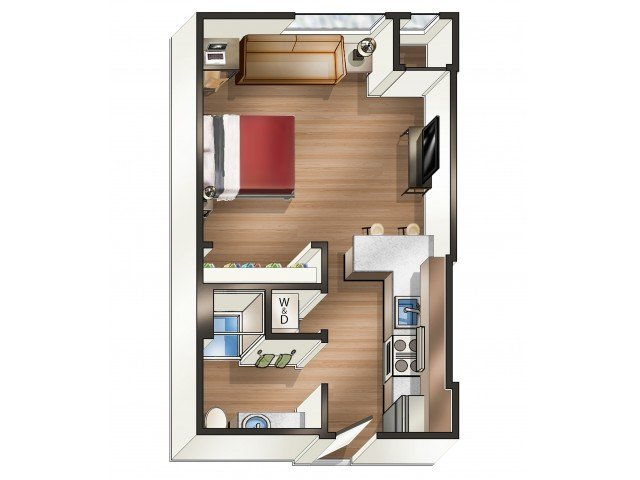 Studio 1 Bathroom Apartment for rent at 700 on Washington in Minneapolis, MN