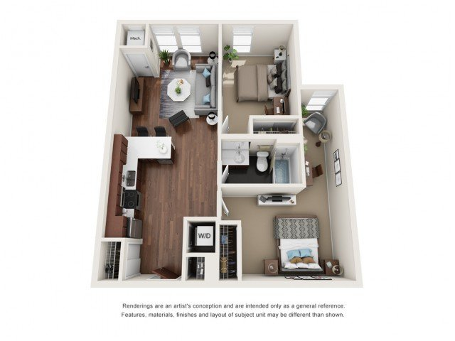 2 Bedrooms 1 Bathroom Apartment for rent at WaHu in Minneapolis, MN