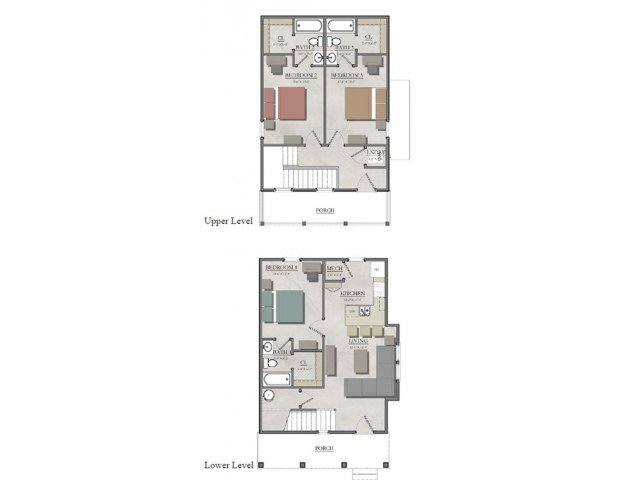 3 Bedrooms 3 Bathrooms Apartment for rent at The Cottages of Boone in Boone, NC