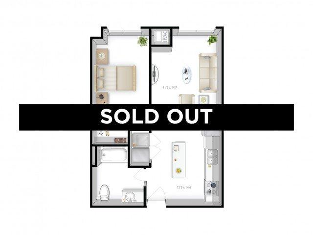 1 Bedroom 1 Bathroom Apartment for rent at The Bridges in Minneapolis, MN