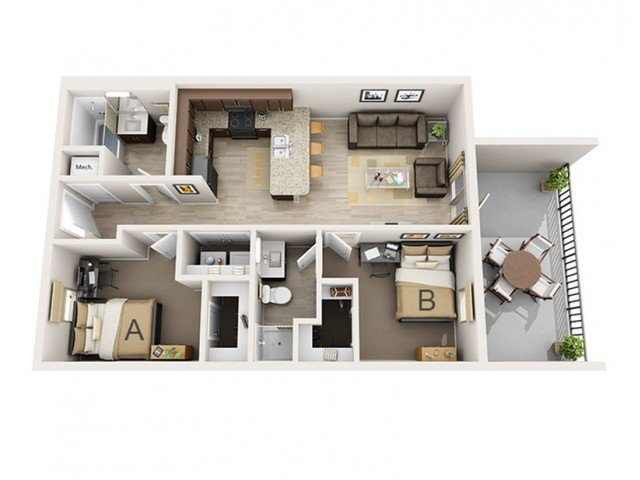 2 Bedrooms 2 Bathrooms Apartment for rent at Next Chapter | 507 Second in Champaign, IL