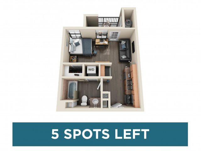 Studio 1 Bathroom Apartment for rent at Fifty Twenty-Five in San Diego, CA