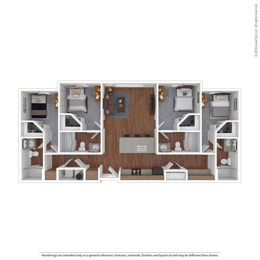 4 Bedrooms 4+ Bathrooms Apartment for rent at Maverick Place in Arlington, TX