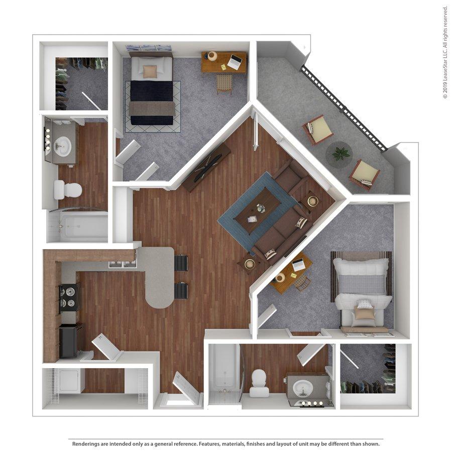 2 Bedrooms 2 Bathrooms Apartment for rent at Maverick Place in Arlington, TX