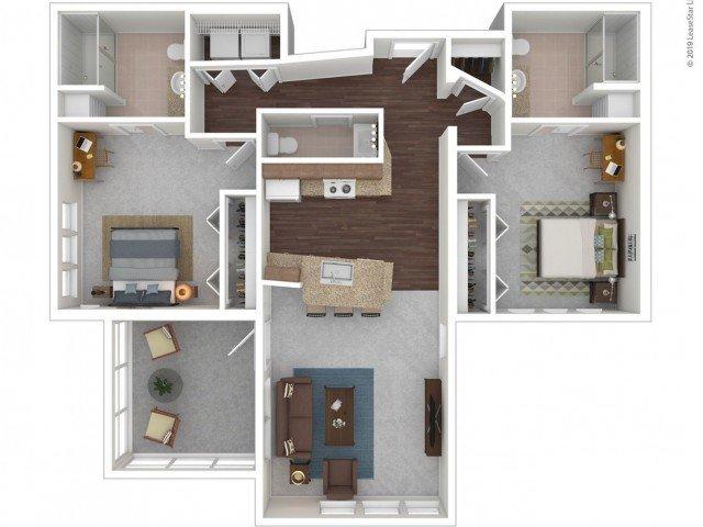 2 Bedrooms 2 Bathrooms Apartment for rent at Z Islander in Bryan, TX