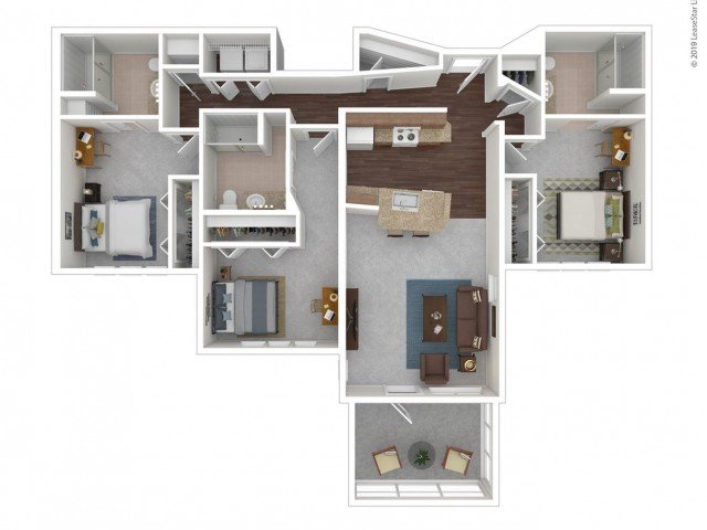 3 Bedrooms 3 Bathrooms Apartment for rent at Z Islander in Bryan, TX