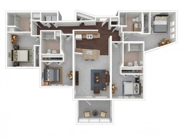 4 Bedrooms 4+ Bathrooms Apartment for rent at Z Islander in Bryan, TX