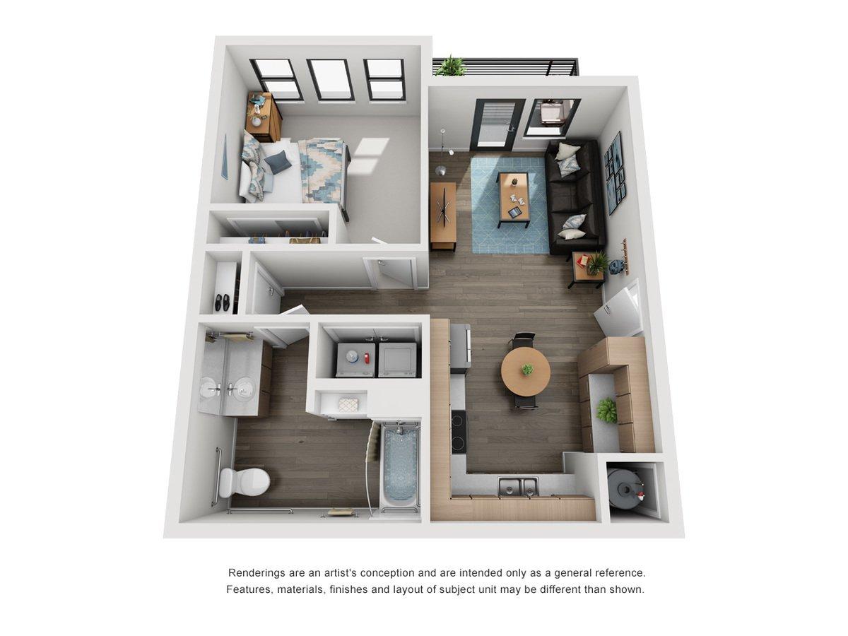 1 Bedroom 1 Bathroom Apartment for rent at Elevate at Pena Station in Denver, CO