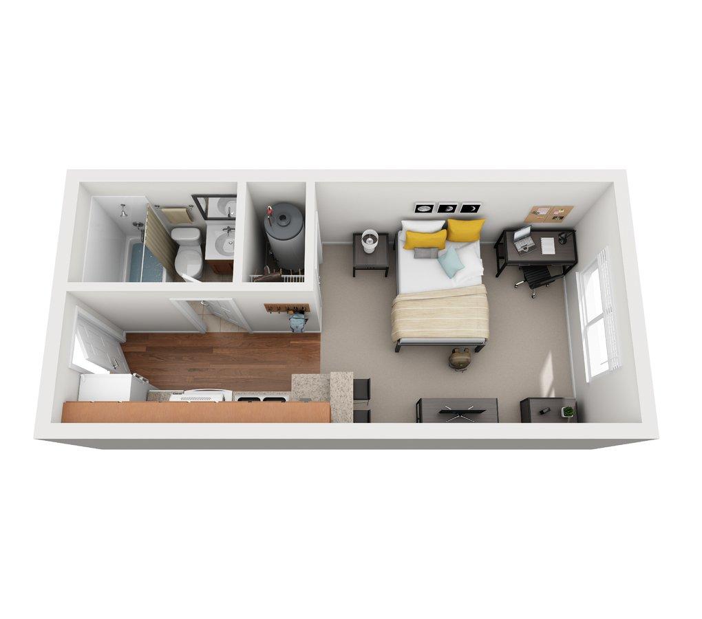 Studio 1 Bathroom Apartment for rent at Vivo Toledo in Toledo, OH