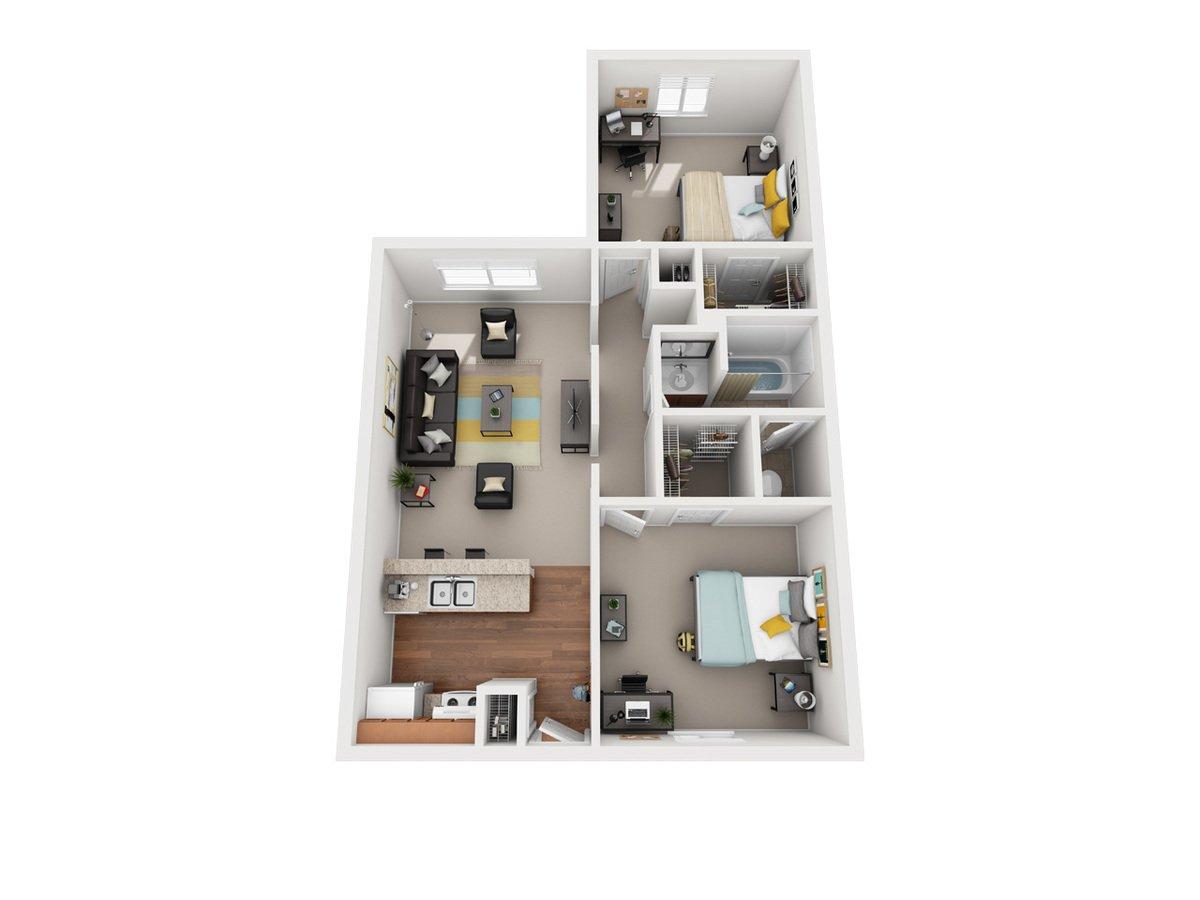 2 Bedrooms 1 Bathroom Apartment for rent at Vivo Toledo in Toledo, OH