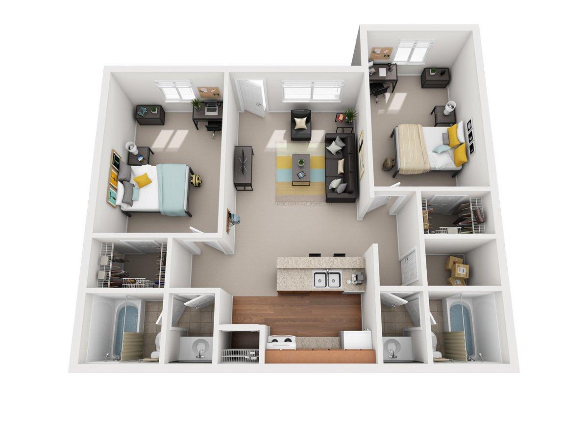 2 Bedrooms 2 Bathrooms Apartment for rent at Vivo Toledo in Toledo, OH
