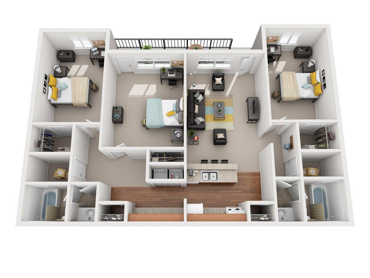 3 Bedrooms 2 Bathrooms Apartment for rent at Vivo Toledo in Toledo, OH