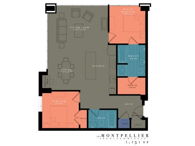 2 Bedrooms 2 Bathrooms Apartment for rent at One Observatory Park in Denver, CO