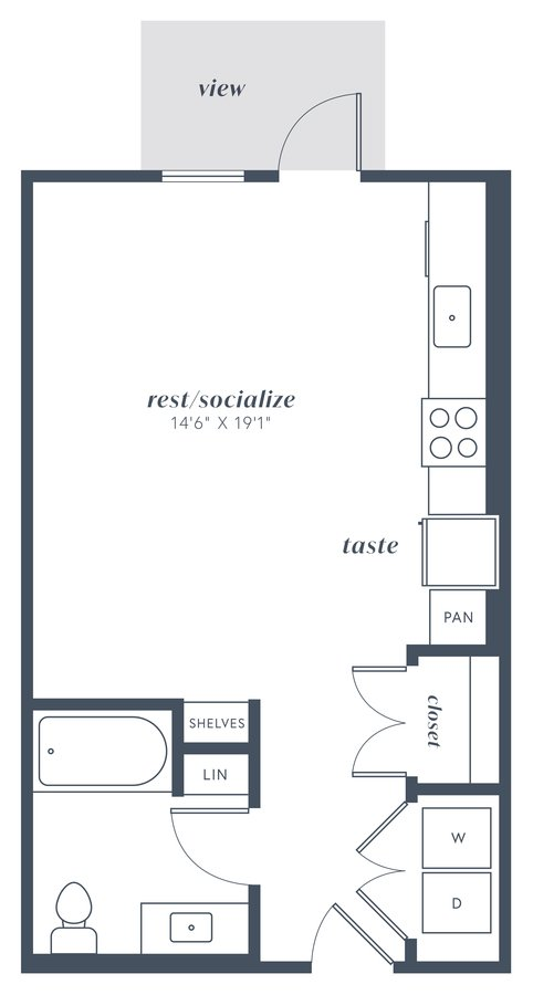 Studio 1 Bathroom Apartment for rent at Alexan Julian in Denver, CO