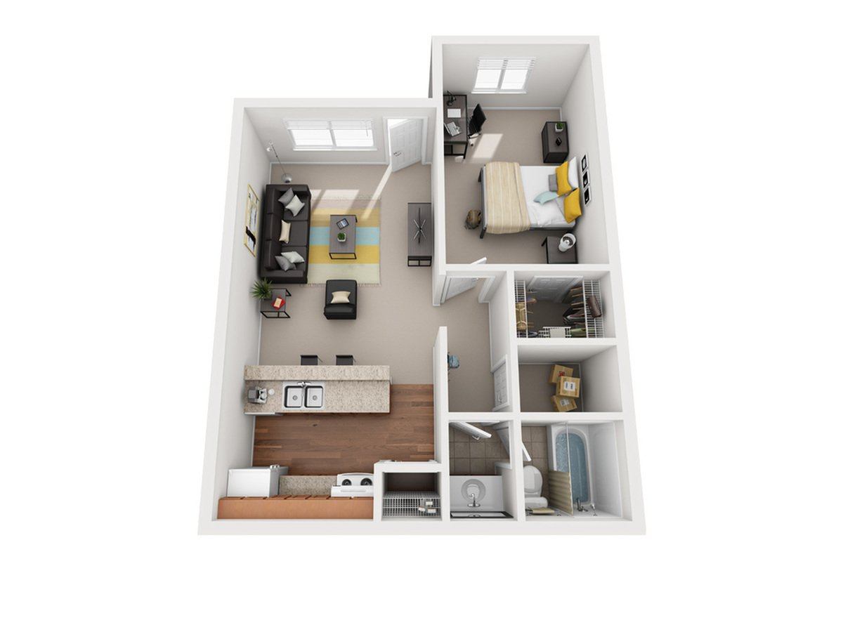 1 Bedroom 1 Bathroom Apartment for rent at Vivo Toledo in Toledo, OH