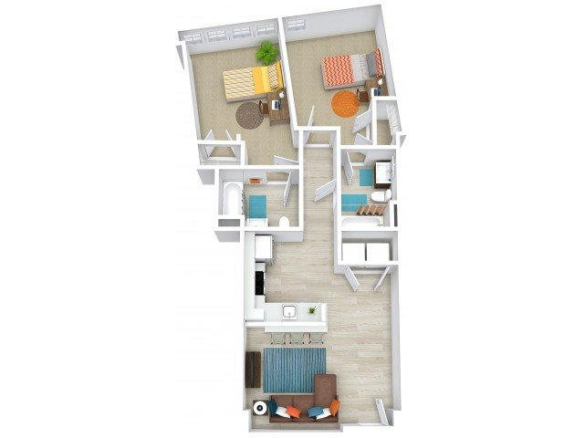 2 Bedrooms 2 Bathrooms Apartment for rent at The Tradition in College Station, TX