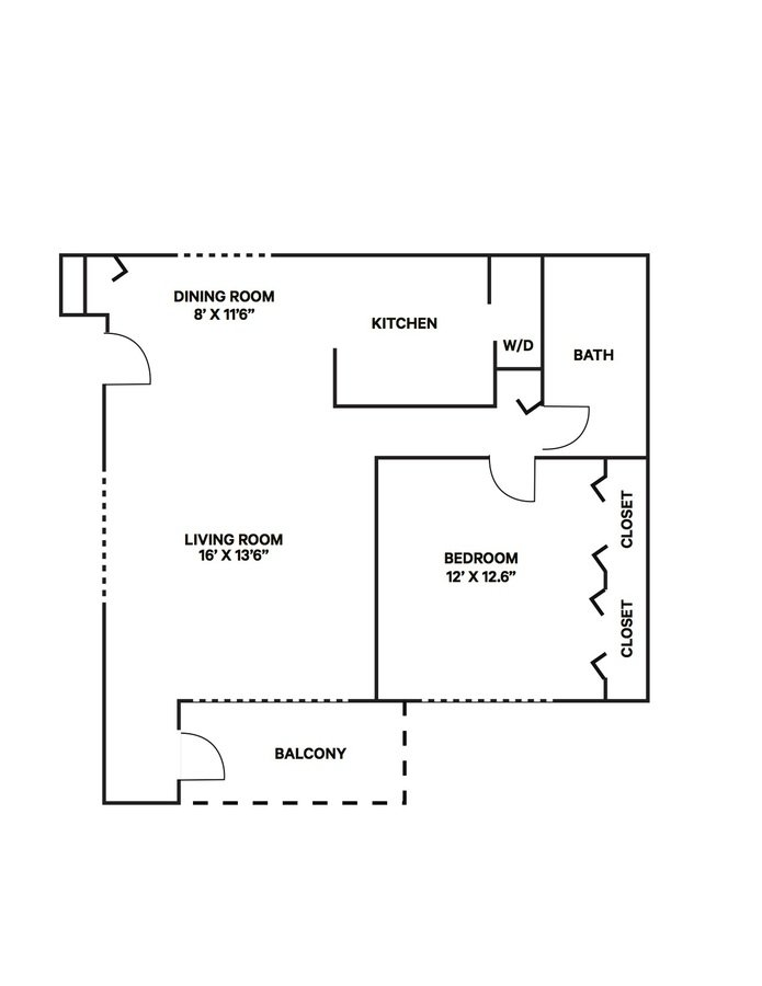 1 Bedroom 1 Bathroom Apartment for rent at The Woodlands in Toledo, OH