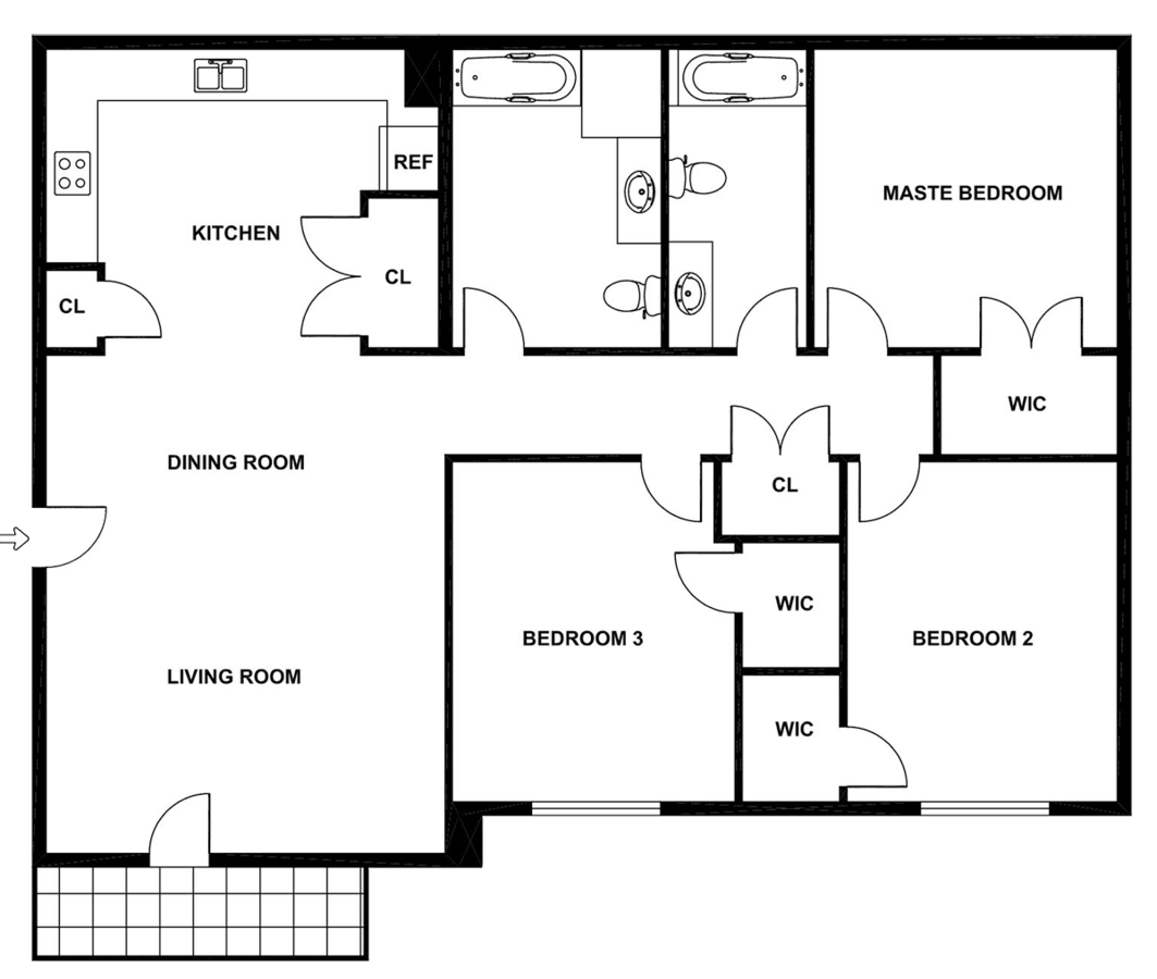 3 Bedrooms 2 Bathrooms Apartment for rent at Willow Point in Concordia, MO