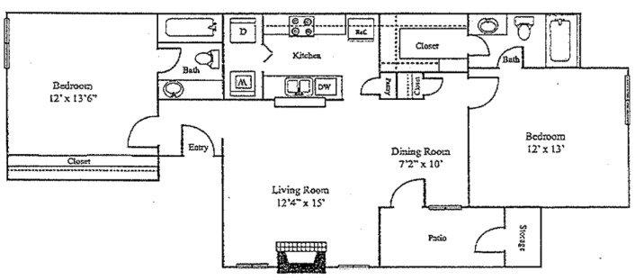 2 Bedrooms 2 Bathrooms Apartment for rent at Sutter Creek Apartments in Arlington, TX