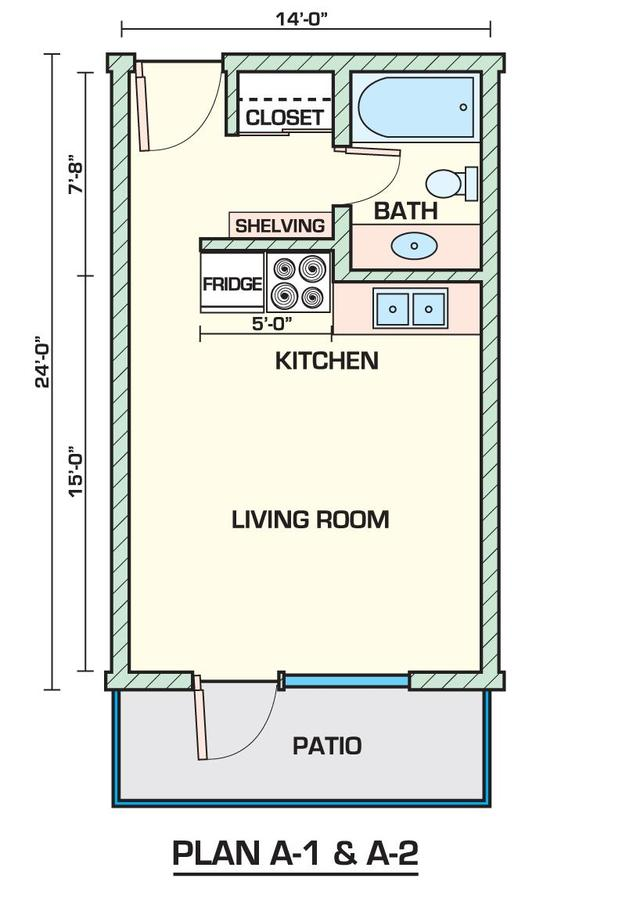 Studio 1 Bathroom Apartment for rent at Sahara in Tucson, AZ