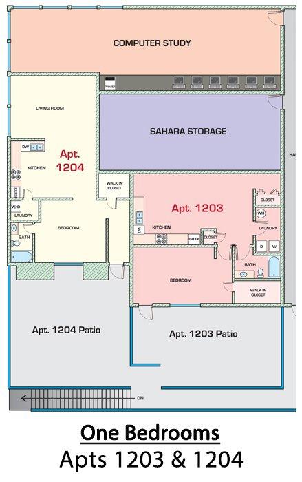 1 Bedroom 1 Bathroom Apartment for rent at Sahara in Tucson, AZ