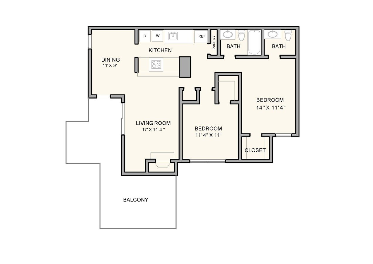 2 Bedrooms 1 Bathroom Apartment for rent at Greenbrook at Shelby Farms in Memphis, TN