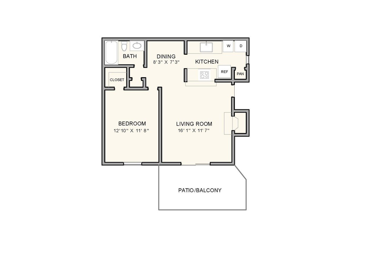 1 Bedroom 1 Bathroom Apartment for rent at Greenbrook at Shelby Farms in Memphis, TN