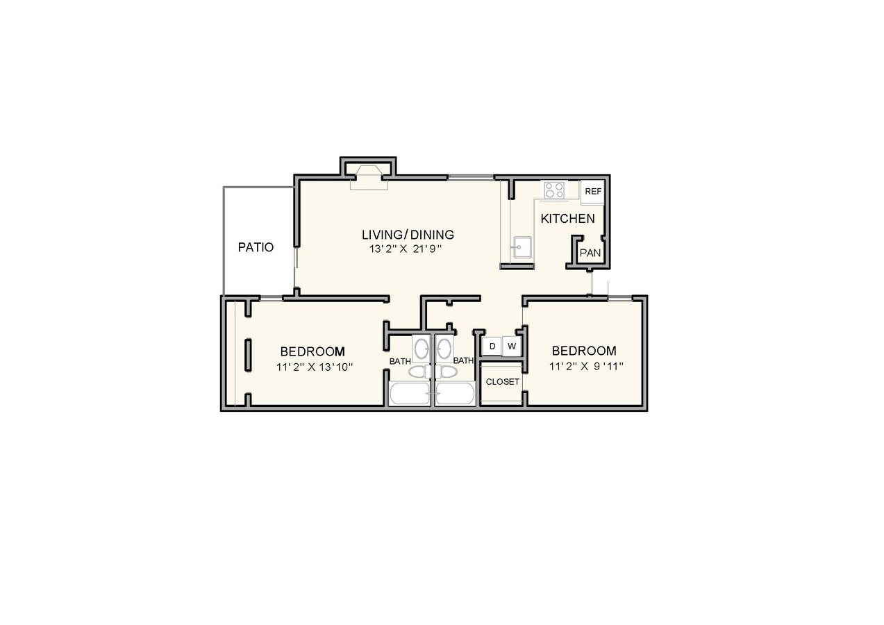 2 Bedrooms 2 Bathrooms Apartment for rent at Greenbrook at Shelby Farms in Memphis, TN
