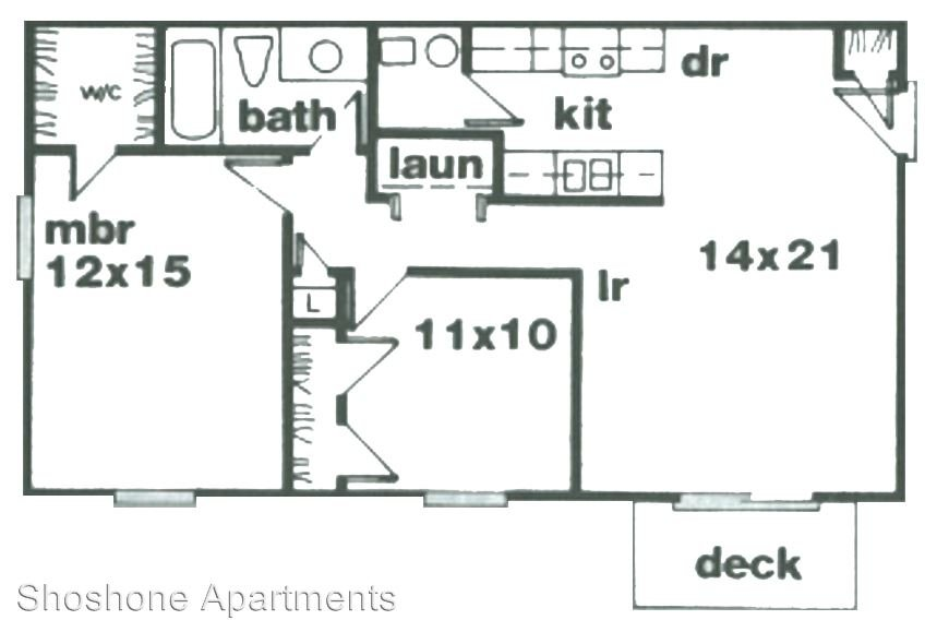 2 Bedrooms 1 Bathroom Apartment for rent at Shoshone Apartments in Lafayette, IN