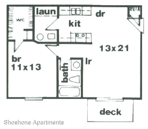 1 Bedroom 1 Bathroom Apartment for rent at Shoshone Apartments in Lafayette, IN