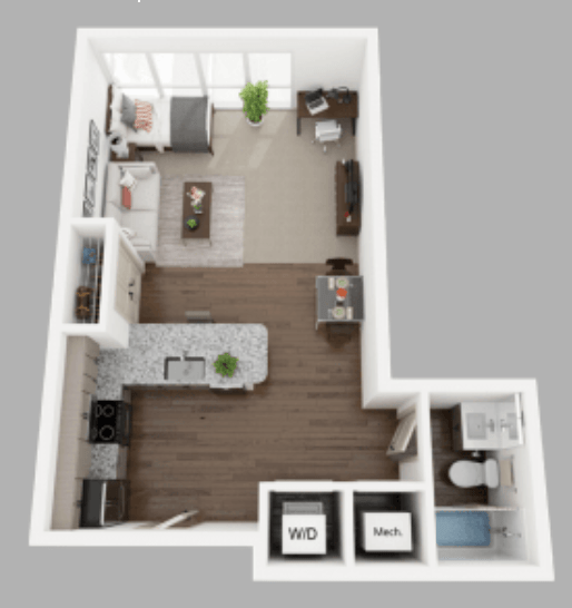 Studio 1 Bathroom Apartment for rent at Anvil 38 in Lafayette, IN