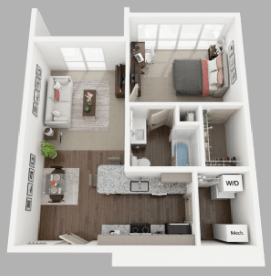 1 Bedroom 1 Bathroom Apartment for rent at Anvil 38 in Lafayette, IN