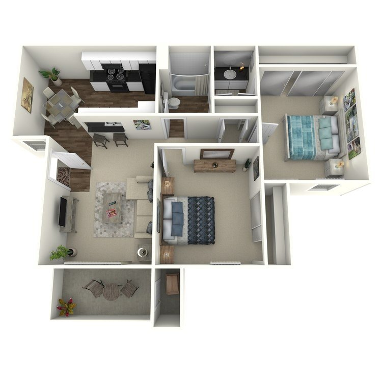 2 Bedrooms 1 Bathroom Apartment for rent at Country Hills Apartment Homes in Brea, CA
