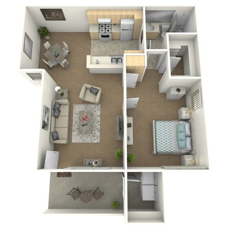 1 Bedroom 1 Bathroom Apartment for rent at Palm Court Apartment Homes in Hemet, CA