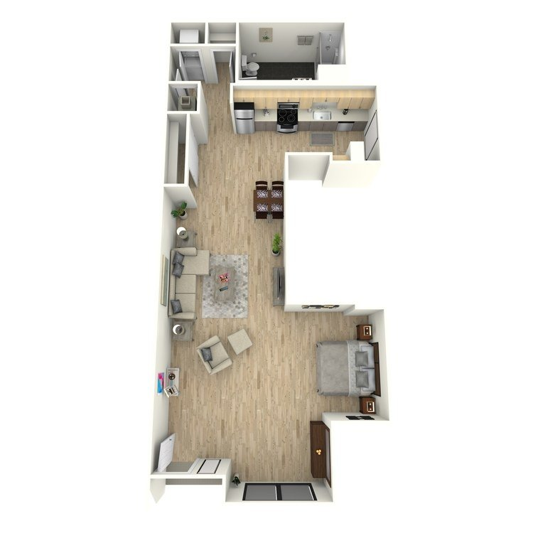 Studio 1 Bathroom Apartment for rent at Eastown Apartments in Los Angeles, CA