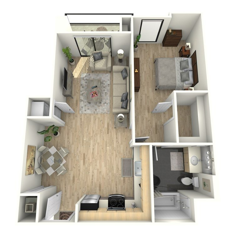 1 Bedroom 1 Bathroom Apartment for rent at Eastown Apartments in Los Angeles, CA