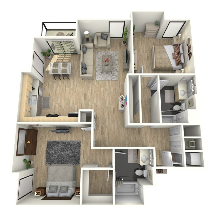 2 Bedrooms 2 Bathrooms Apartment for rent at Eastown Apartments in Los Angeles, CA